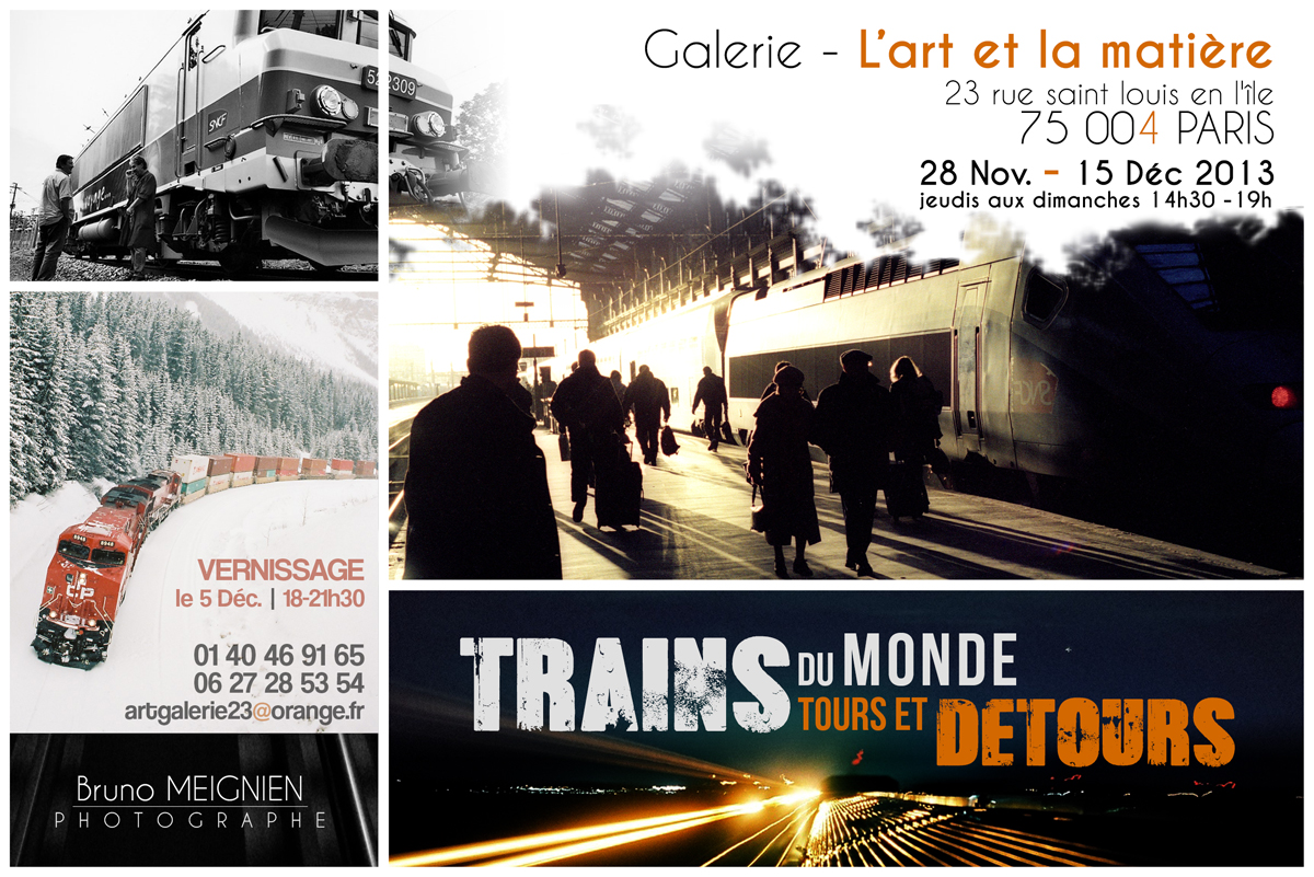 Expo photo Trains Du Monde - tours et détours